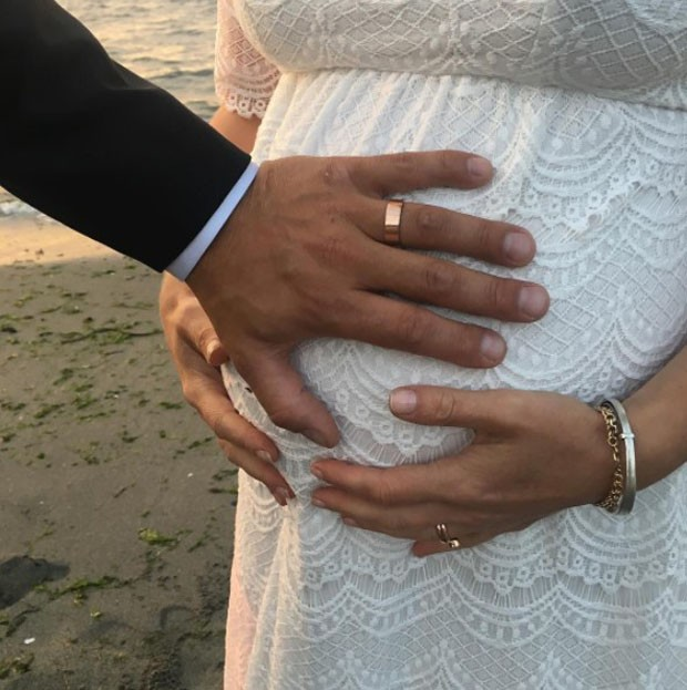 Grávida, Julia Styles se casa com Preston J.Cook (Foto: Reprodução/Instagram)