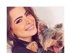 Rayanne Morais comemora volta de cãozinho para casa