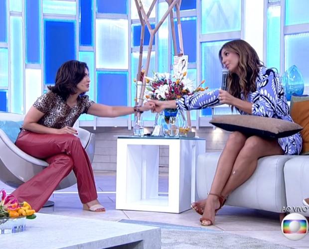 Fátima e Ivete conversam sobre ansiedade (Foto: TV Globo)