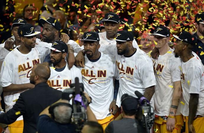 Cleveland Cavaliers campeão Conferência Leste LeBron (Foto: David Richard / Reuters)