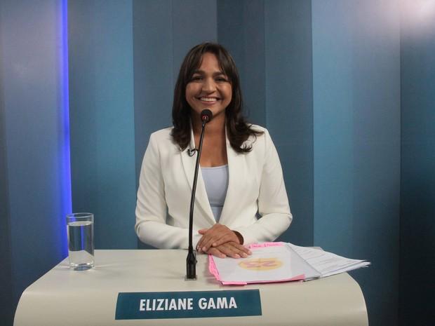 Eliziane Gama (PPS) durante o debate da TV Mirante (Foto: Biaman Prado/O Estado)