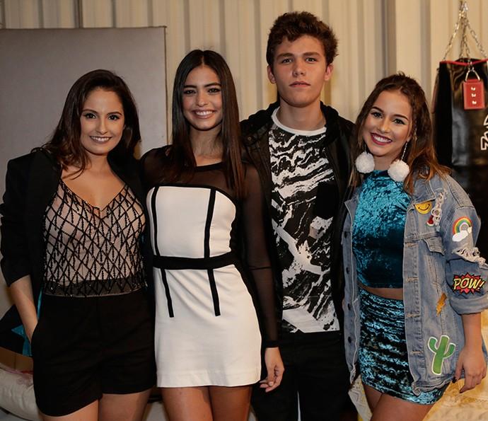 Amanda di Godoi, Cynthia Senek, Gabriel Kaufmann e Laryssa Ayres continuam na próxima temporada de Malhação (Foto: Fábio Rocha / Gshow)