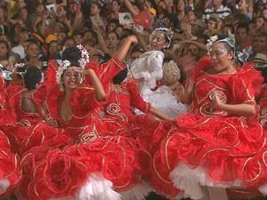 Quadrilha Junina Dona Matuta é a vencedora regional (Foto: Reprodução/TV Globo)