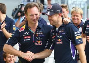 Christian Horner desejou sorte a Sebastian Vettel na nova fase de sua carreira na F-1 (Foto: Getty Images)
