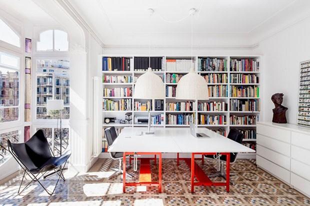 D cor do dia cor na biblioteca casa vogue d cor do dia - Librerias para despacho decoracion ...