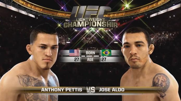 EA Sports UFC mostra gameplay de luta entre José Aldo e Anthony Pettis (Foto: Reprodução/ Youtube)