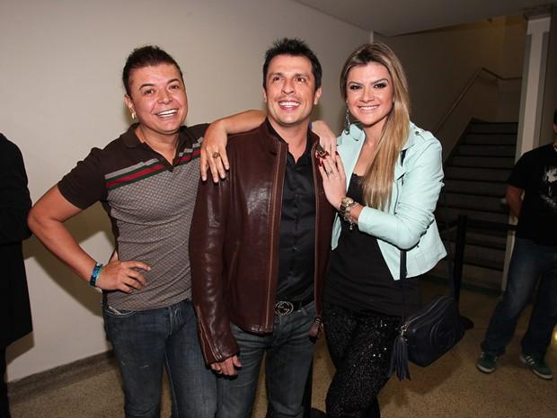 David Brazil, Mirella Santos e Ceará em gravação de DVD do Naldo em São Paulo (Foto: Manuela Scarpa/ Foto Rio News)