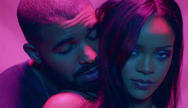 Drake e Rihanna no clipe Work. Como não amar esse vídeo?!  (Foto: Reprodução)