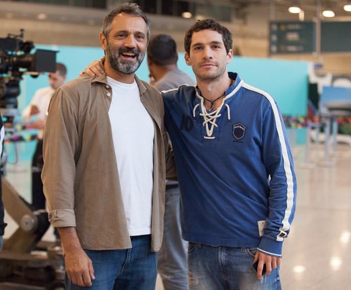 Michel Noher e Domingos Montagner  (Foto: Fabiano Battaglin / Gshow)