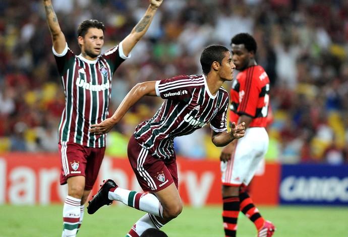 MIchael fluminense gol flamengo (Foto: André Durão / Globoesporte.com)
