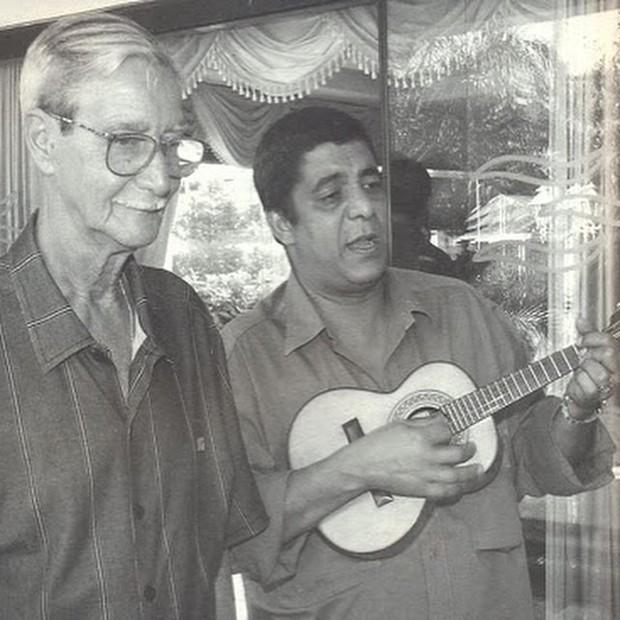 Zeca Pagodinho e o pai (Foto: Reprodução/ Instagram)