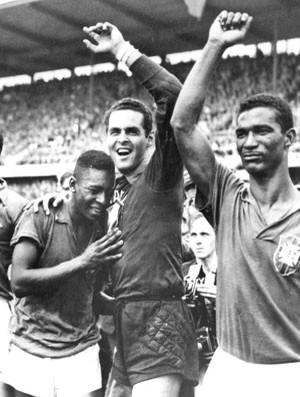Copa do Mundo 1958 -Pelé, Gilmar e Didi  (Foto: Agência AP )