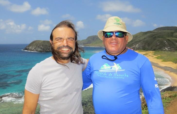 Paulo Campos e Murício Silca na praia do Leão 3