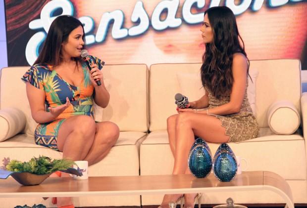 Geisy Arruda e Daniela Albuquerque (Foto: Divulgação/RedeTV!)