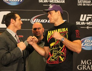Coletiva UFC 162 Tim Keneddy e Roger Gracie (Foto: Evelyn Rodrigues)