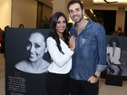 Ex-BBB Amanda vai com o namorado a evento em São Paulo