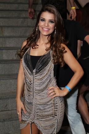 Mari Antunes em show na Zona Oeste do Rio (Foto: Anderson Borde/ Ag. News)