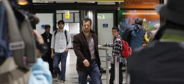 dunga inter internacional desembarque chegada aeroporto porto alegre (Foto: Diego Guichard/Globoesporte.com)