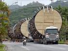 Transporte de cargas gigantes interdita BR-101 na Serra, ES