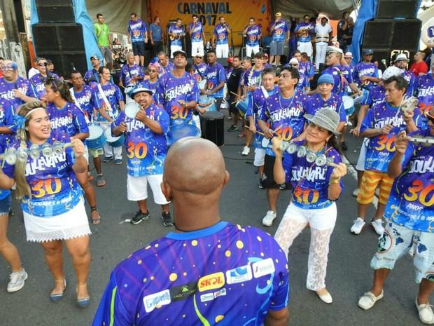 Foliões lotam 30ª Banda do Boulevard, no Centro de Manaus (Foto: Adneison Severiano/G1 AM)