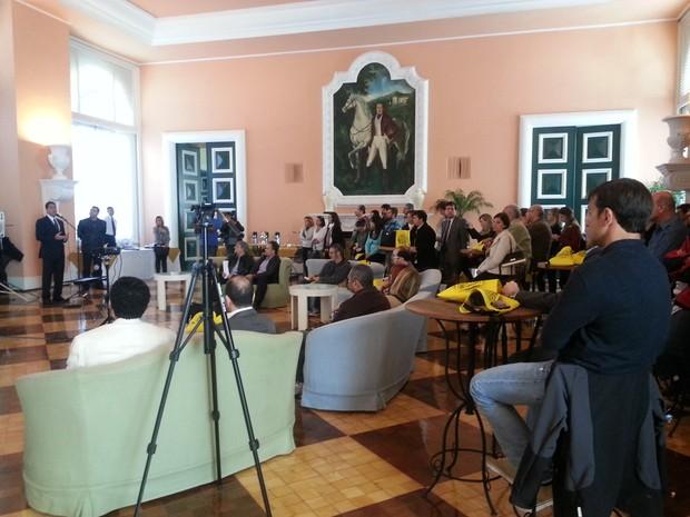 Lançamento Festival Sesc de Inverno em Petrópolis (Foto: Fernanda Soares/G1)