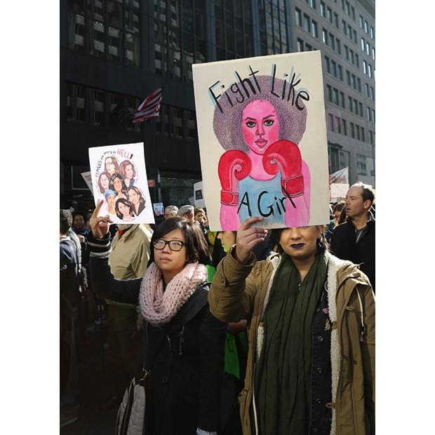 Mulheres marcham em Nova York (Foto:  )