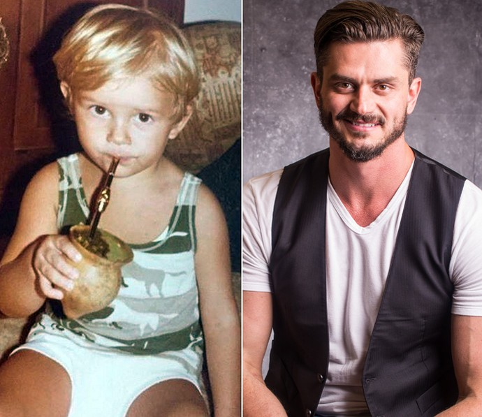 Marcos aos 2 aninhos e hoje com 38 (Foto: Arquivo Pessoal e Paulo Belote/TV Globo)