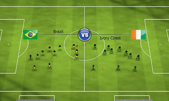 Stickman Soccer é um game de futebol leve, mas com muitos modos e campeonatos (Foto: Divulgação)