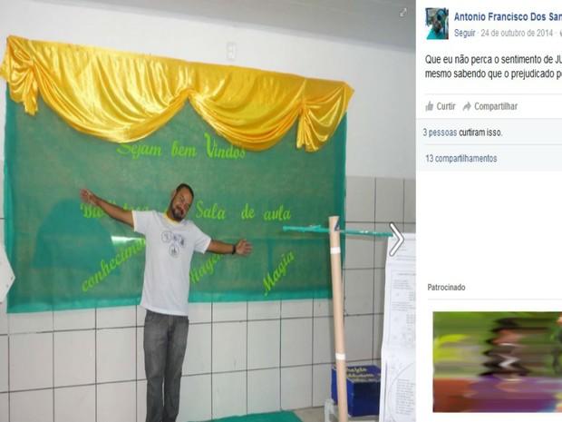 Polícia investiga morte de professor em Vitória da Conquista (Foto: Reprodução / Facebook)