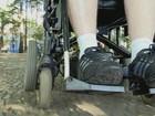 Deficientes fazem 'Cadeiraço' para cobrar acessibilidade em Rio Claro