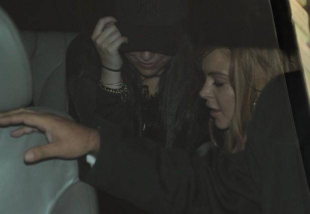 Lindsay Lohan em SP (Foto: Francisco Cepeda e Leo Franco  / AgNews)