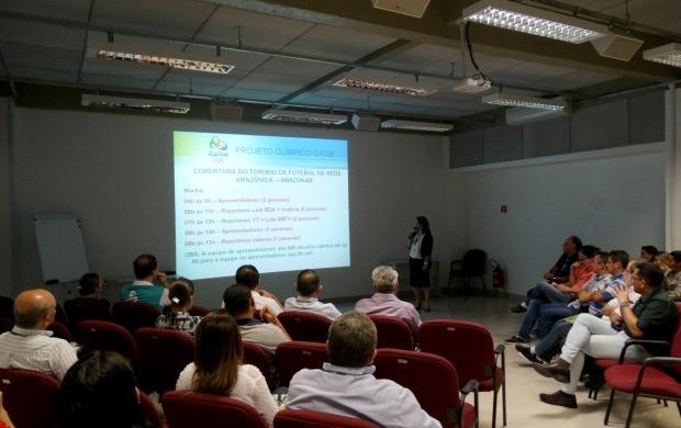 Apresentação do planejamento de cobertura das competições da Olimpíada 2016, em Manaus (Foto: Onofre Martins/Rede Amazônica)