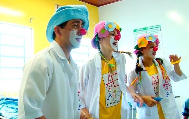 Anjos da Enfermagem levam alegria  para crianças em Ariquemes (Foto: Bom Dia Amazônia)