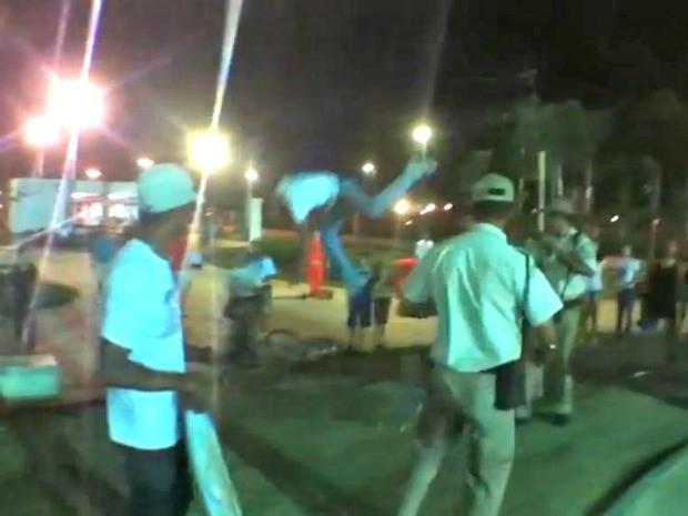 Guarda Municipal (GM-Rio)  prestando um desserviço