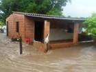 Com chuva, nível do rio Verde sobe e enchente traz estragos a cidade de MS