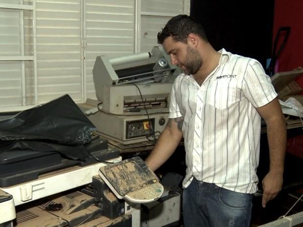 Diego estima prejuízo de R$ 20 mil após temporal, em Valinhos (Foto: Reprodução / EPTV)