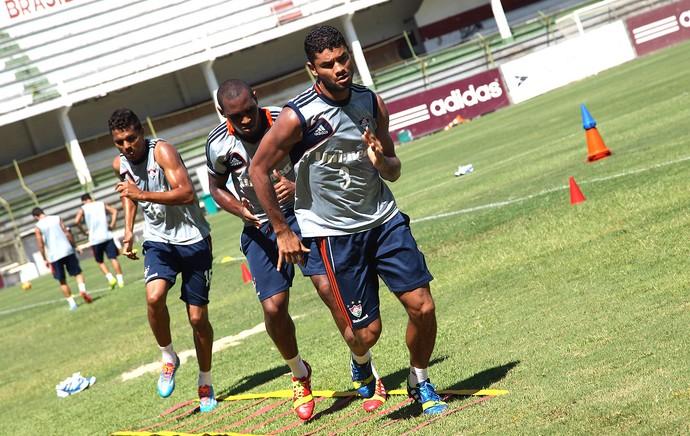 Gum e Digão no treino do Fluminense (Foto: Nelson Perez / Site Oficial do Fluminense)