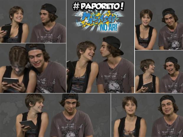 Rafa Vitti e Isa Santoni contaram tudo para a galera no #paporeto (Foto: Malhação / TV Globo)