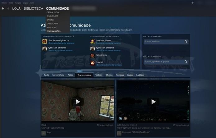 É possível buscar também por transmissões de jogos específicos (Foto:Reprodução/Cássio Barbosa)