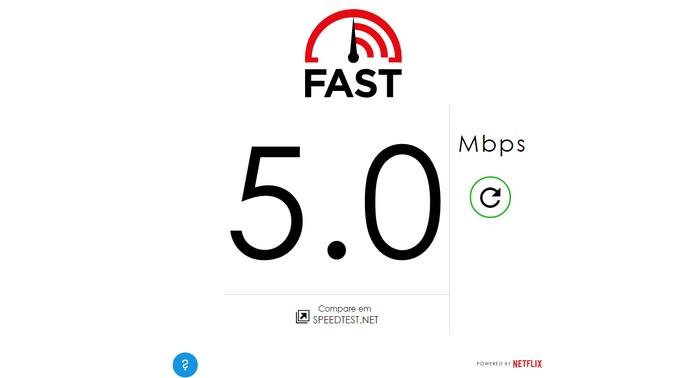 Velocímetro Fast do Netflix ajuda usuários a medir a velocidade da internet (Foto: Reprodução/Barbara Mannara)