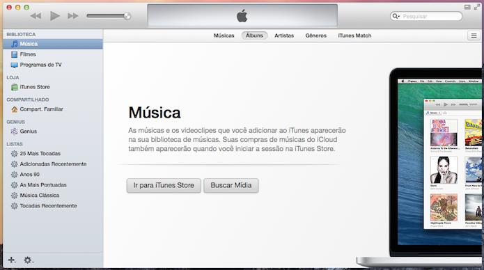 Ativando barra lateral do iTunes 11 (Foto: Reprodução/Helito Bijora)