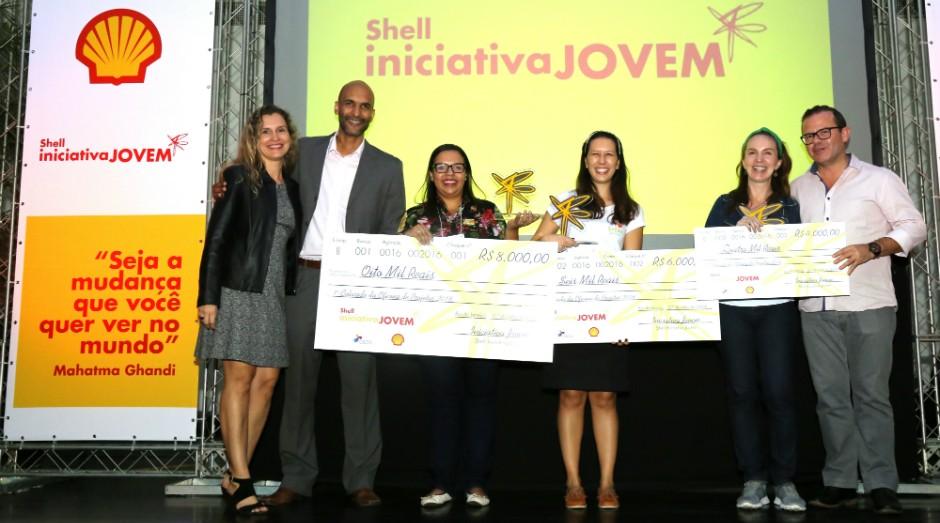 Vencedores do Shell Iniciativa Jovem em 2016 (Foto: Divulgação)
