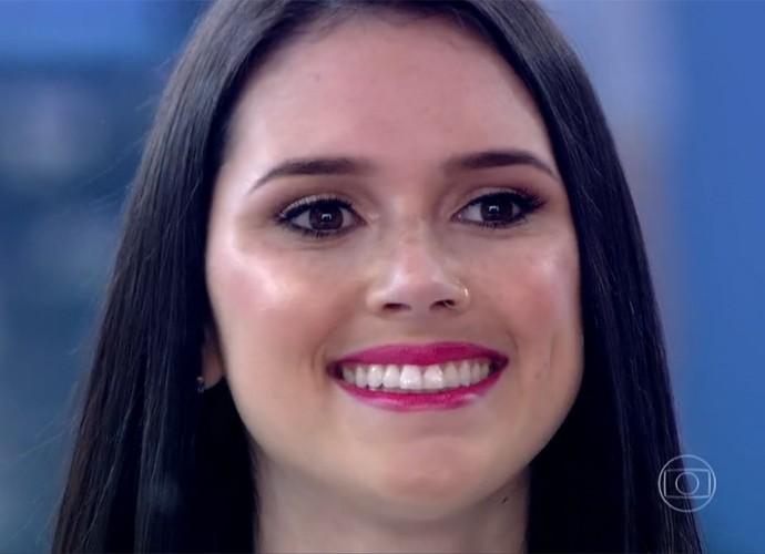 Jéssica Hoffman foi escolhida pela Avon e vai representar a marca (Foto: Divulgação/TV Globo)