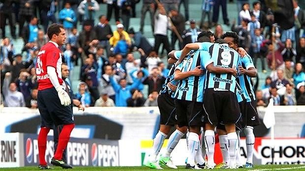Comemoração Grêmio, Gêmio e Bahia (Foto: Divulgação / Site Oficial)