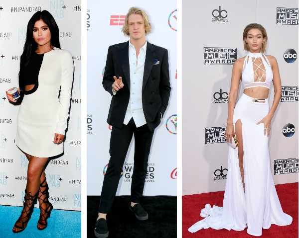 Kylie Jenner, Cody Simpson e Gigi Hadid (Foto: Getty Images)