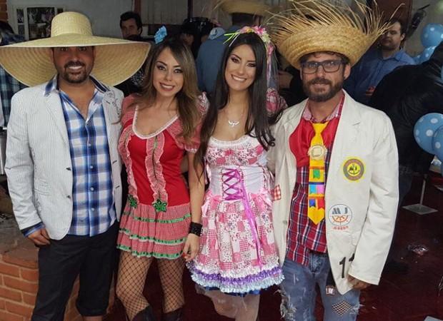 Edson, Deia Cypri, Thayra Machado e Hudson (Foto: Arquivo pessoal)
