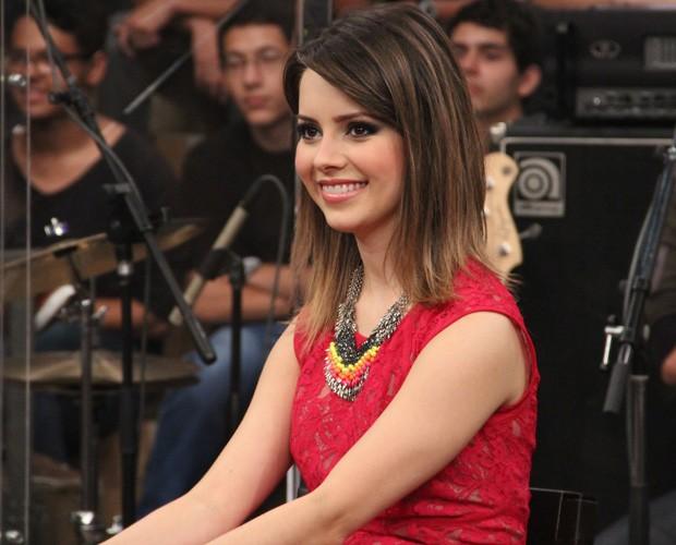 Sandy conta que tem vontade de fazer mais trabalho como atriz (Foto: TV Globo/Altas Horas)