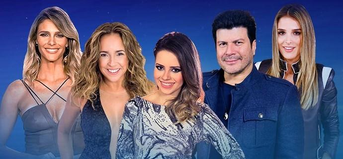 Fernanda Lima, Daniela Mercury, Sandy, Paulo Ricardo e Rafa Brites estão no SuperStar 2016 (Foto: Gshow)