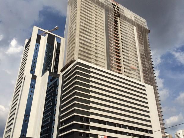 Com 183 metros, prédio erguido em Goiânia será o 2º mais alto do Brasil em Goiás (Foto: Sílvio Túlio/G1)
