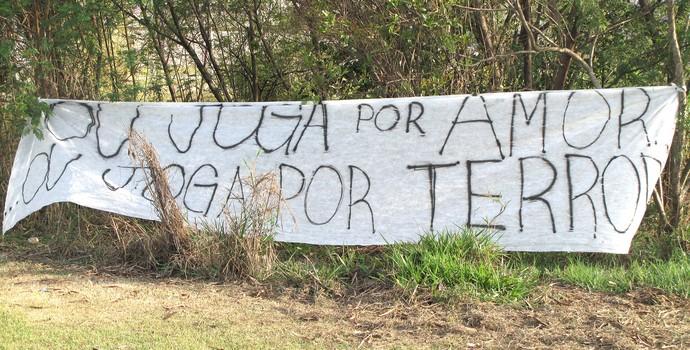 Protesto Torcida Corinthians (Foto: Rodrigo Faber)